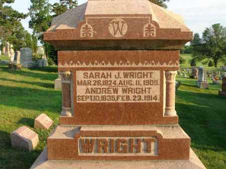 WRIGHT, ANDREW - Fairfield County, Ohio   ANDREW WRIGHT - Ohio Gravestone Photos
