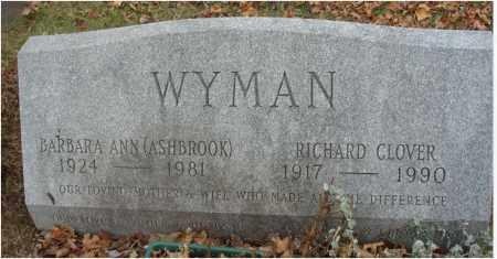 WYMAN, BARBARA ANN - Fairfield County, Ohio | BARBARA ANN WYMAN - Ohio Gravestone Photos