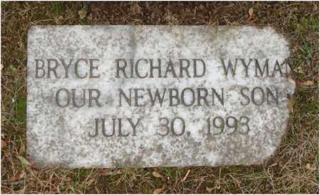 WYMAN, BRYCE RICHARD - Fairfield County, Ohio | BRYCE RICHARD WYMAN - Ohio Gravestone Photos