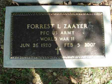 ZAAYER, FORREST L. - Fairfield County, Ohio | FORREST L. ZAAYER - Ohio Gravestone Photos