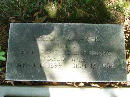 ZAAYER, LEROY - Fairfield County, Ohio | LEROY ZAAYER - Ohio Gravestone Photos
