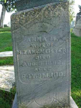 ZANGMEISTER, ANNA M. - Fairfield County, Ohio | ANNA M. ZANGMEISTER - Ohio Gravestone Photos