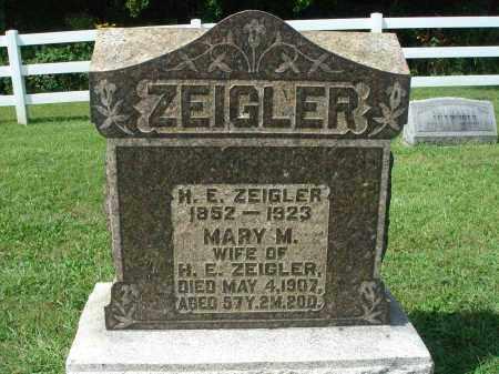 ZEIGLER, H. E. - Fairfield County, Ohio | H. E. ZEIGLER - Ohio Gravestone Photos