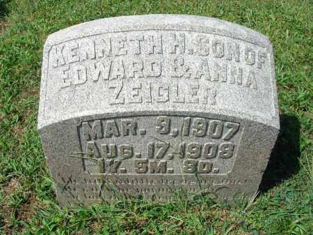 ZEIGLER, KENNETH H. - Fairfield County, Ohio | KENNETH H. ZEIGLER - Ohio Gravestone Photos