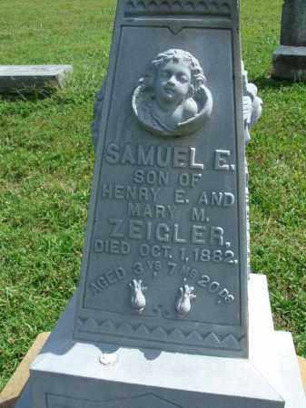 ZEIGLER, SAMUEL E. - Fairfield County, Ohio | SAMUEL E. ZEIGLER - Ohio Gravestone Photos