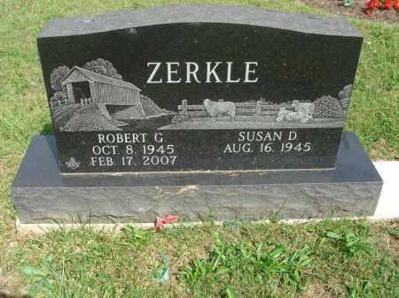 ZERKLE, ROBERT G. - Fairfield County, Ohio   ROBERT G. ZERKLE - Ohio Gravestone Photos