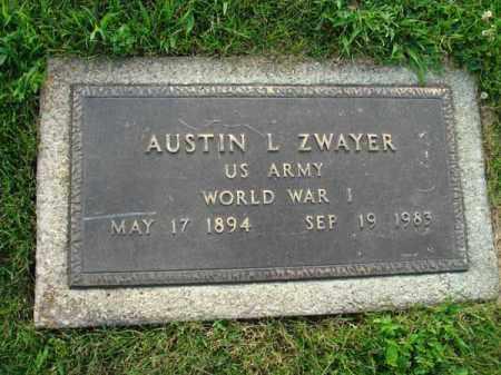 ZWAYER, AUSTIN L. - Fairfield County, Ohio   AUSTIN L. ZWAYER - Ohio Gravestone Photos