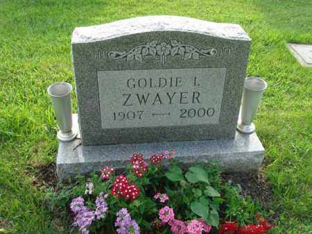 ZWAYER, GOLDIE I. - Fairfield County, Ohio | GOLDIE I. ZWAYER - Ohio Gravestone Photos