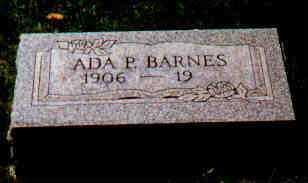BARNES, ADA - Fayette County, Ohio | ADA BARNES - Ohio Gravestone Photos