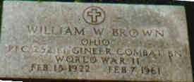 BROWN, WILLIAM - Fayette County, Ohio | WILLIAM BROWN - Ohio Gravestone Photos