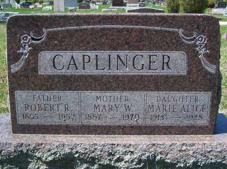 CAPLINGER, MARY W. - Fayette County, Ohio | MARY W. CAPLINGER - Ohio Gravestone Photos