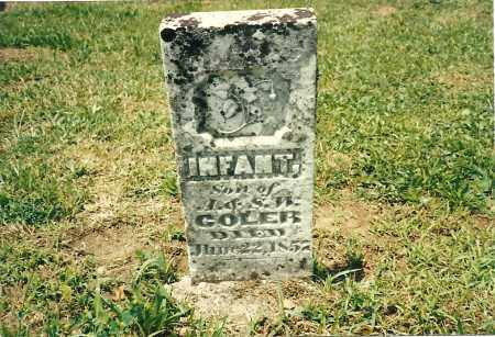 COLER, INFANT SON - Fayette County, Ohio | INFANT SON COLER - Ohio Gravestone Photos