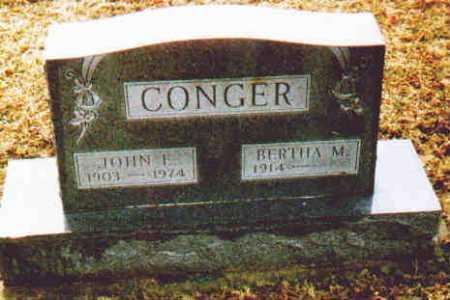 CONGER, BERTHA M - Fayette County, Ohio | BERTHA M CONGER - Ohio Gravestone Photos