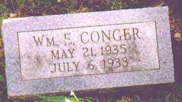 CONGER, WILLIAM E - Fayette County, Ohio | WILLIAM E CONGER - Ohio Gravestone Photos
