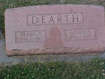DEARTH, MINNIE E - Fayette County, Ohio | MINNIE E DEARTH - Ohio Gravestone Photos