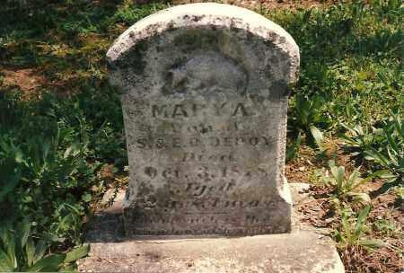 DEPOY, MARY  ANN - Fayette County, Ohio | MARY  ANN DEPOY - Ohio Gravestone Photos