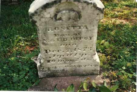 DEPOY, ROSETTA - Fayette County, Ohio   ROSETTA DEPOY - Ohio Gravestone Photos