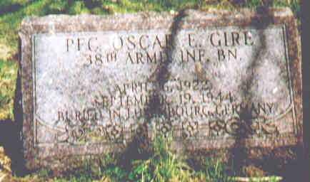 GIRE, OSCAR E - Fayette County, Ohio | OSCAR E GIRE - Ohio Gravestone Photos