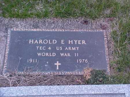 HYER, HARRY E. - Fayette County, Ohio   HARRY E. HYER - Ohio Gravestone Photos