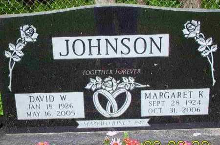 JOHNSON, MARGARET K - Fayette County, Ohio | MARGARET K JOHNSON - Ohio Gravestone Photos