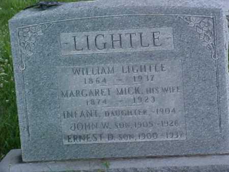 LIGHTLE, INFANT DAUGHTER - Fayette County, Ohio | INFANT DAUGHTER LIGHTLE - Ohio Gravestone Photos