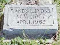 LYONS, RANDY L - Fayette County, Ohio | RANDY L LYONS - Ohio Gravestone Photos