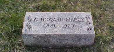 MAHOY, W. HOWARD - Fayette County, Ohio   W. HOWARD MAHOY - Ohio Gravestone Photos