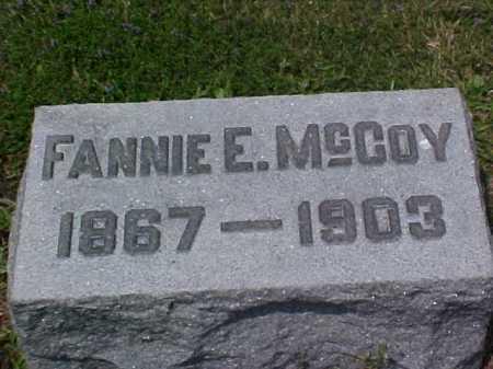 MCCOY, FANNIE E. - Fayette County, Ohio | FANNIE E. MCCOY - Ohio Gravestone Photos