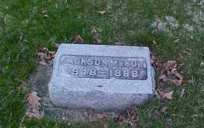 MCCOY, JACKSON - Fayette County, Ohio   JACKSON MCCOY - Ohio Gravestone Photos