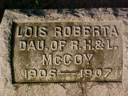 MCCOY, LOIS ROBERTA - Fayette County, Ohio | LOIS ROBERTA MCCOY - Ohio Gravestone Photos