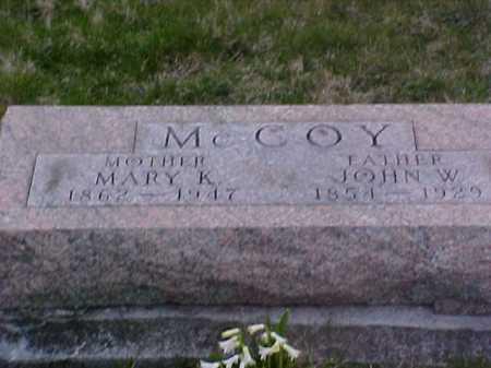 MCCOY, JOHN W. - Fayette County, Ohio | JOHN W. MCCOY - Ohio Gravestone Photos