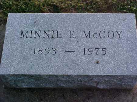 MCCOY, MINNIE E - Fayette County, Ohio | MINNIE E MCCOY - Ohio Gravestone Photos