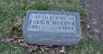 MCCOY, SARAH E. - Fayette County, Ohio   SARAH E. MCCOY - Ohio Gravestone Photos