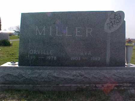 MILLER, AVA - Fayette County, Ohio   AVA MILLER - Ohio Gravestone Photos