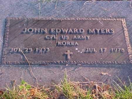 MYERS, JOHN EDWARD - Fayette County, Ohio   JOHN EDWARD MYERS - Ohio Gravestone Photos