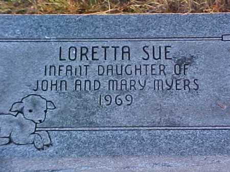 MYERS, LORETTA SUE - Fayette County, Ohio   LORETTA SUE MYERS - Ohio Gravestone Photos