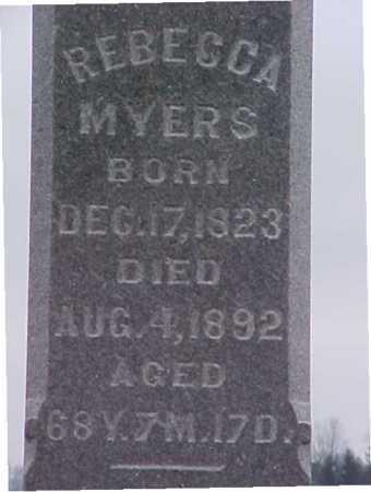 MYERS, REBECCA - Fayette County, Ohio   REBECCA MYERS - Ohio Gravestone Photos