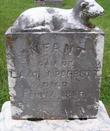 PARRETT, INFANT DAU - Fayette County, Ohio | INFANT DAU PARRETT - Ohio Gravestone Photos