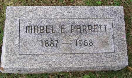 PARRETT, MABEL E - Fayette County, Ohio | MABEL E PARRETT - Ohio Gravestone Photos