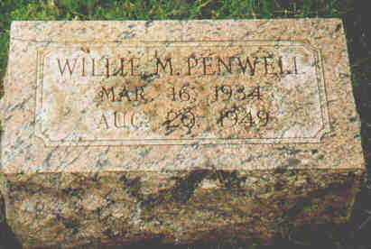 PENWELL, WILLIE M - Fayette County, Ohio | WILLIE M PENWELL - Ohio Gravestone Photos