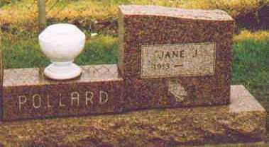 POLLARD, JANE J - Fayette County, Ohio | JANE J POLLARD - Ohio Gravestone Photos