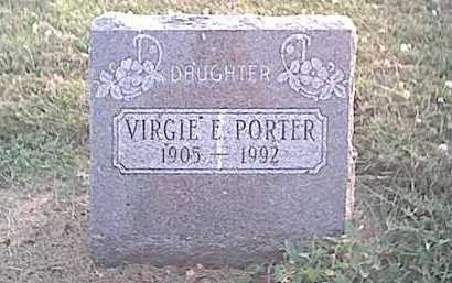 PORTER, VIRGIE E - Fayette County, Ohio | VIRGIE E PORTER - Ohio Gravestone Photos