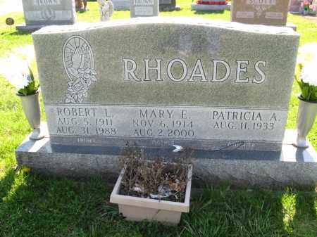 RHOADES, ROBERT L - Fayette County, Ohio | ROBERT L RHOADES - Ohio Gravestone Photos