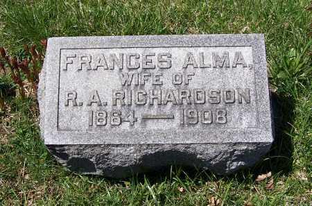 UNDERWOOD RICHARDSON, FRANCES ALMA - Fayette County, Ohio | FRANCES ALMA UNDERWOOD RICHARDSON - Ohio Gravestone Photos