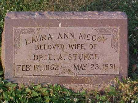 MCCOY STURGE, LAURA A - Fayette County, Ohio | LAURA A MCCOY STURGE - Ohio Gravestone Photos