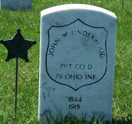 UNDERWOOD, JOHN W - Fayette County, Ohio   JOHN W UNDERWOOD - Ohio Gravestone Photos