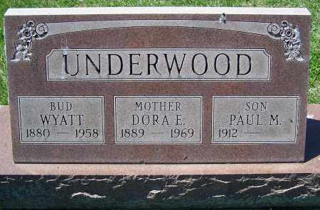 UNDERWOOD, PAUL M. - Fayette County, Ohio | PAUL M. UNDERWOOD - Ohio Gravestone Photos