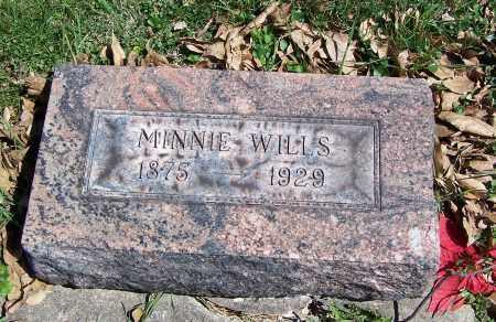 WILLS, MINNIE - Fayette County, Ohio | MINNIE WILLS - Ohio Gravestone Photos