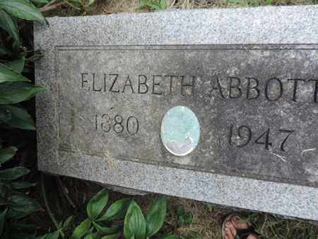 ABBOTT, ELIZABETH - Franklin County, Ohio | ELIZABETH ABBOTT - Ohio Gravestone Photos