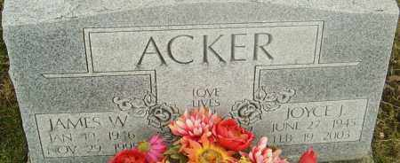 ACKER, JAMES - Franklin County, Ohio | JAMES ACKER - Ohio Gravestone Photos